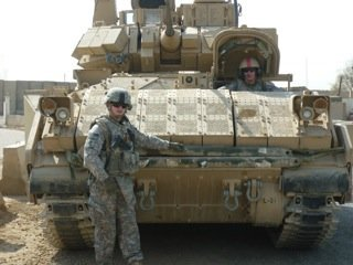 Riley and the reliable Cummins powered M3A3 Bradley Fighting Vehicle