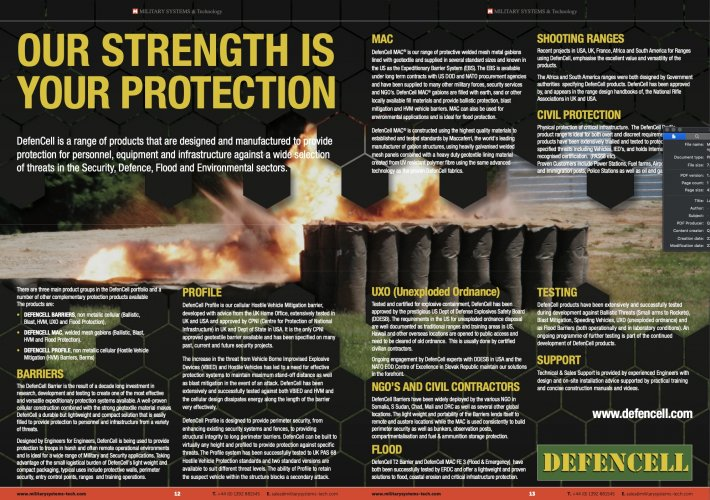 Double Page we've just designed for DefenCell.