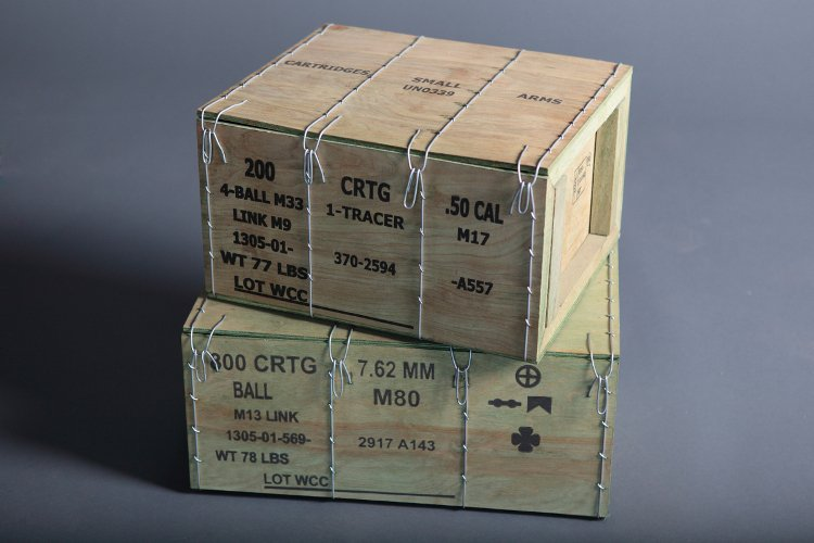 Military Wirebound Ammunition Boxes - Crates and Containers - M2A1 and M19A1