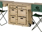 Instantly Deployable Mobile Military Office Desks and Trunks