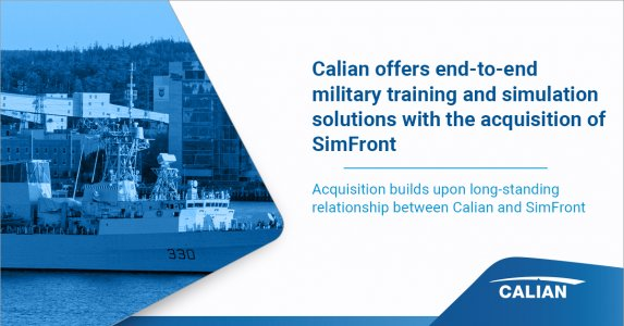 Calian Now Offers End-to-End Military Training and Simulation Solutions with Acquisition of SimFront Simulation Systems Corporation
