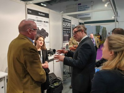 Minister of State for Defence Procurement, Jeremy Quin M.P, visited Security & Policing 2020