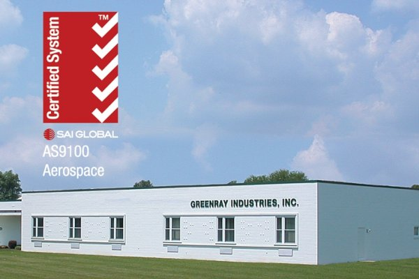 Greenray Receives ISO 9001:2008 + AS9100C Certificate of Registration