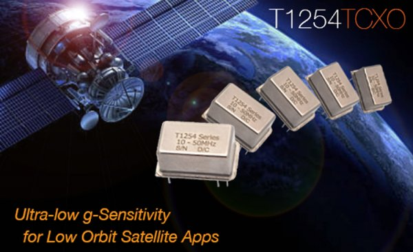 Introducing the Radiation Hardened T1254 TCXO for Low Orbit Satellite Apps.