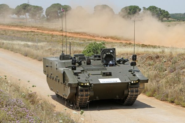 New British Army SCOUT SV armoured vehicle equipped with Oxley LED lights