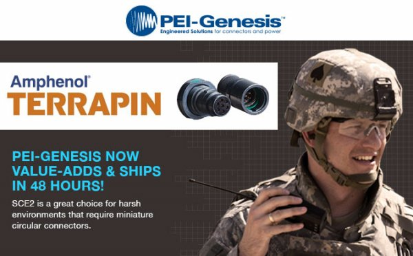 PEI-Genesis Announces Value-Added Assembly of Amphenol LTD's Rugged Terrapin Miniature Connector Series designed primarily for Military Communications
