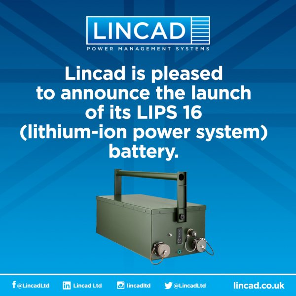 Lincad launches LIPS 16 battery