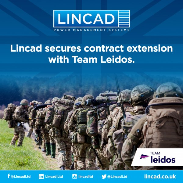 Twelve-month extension of battery supply contract for Lincad from Team Leidos