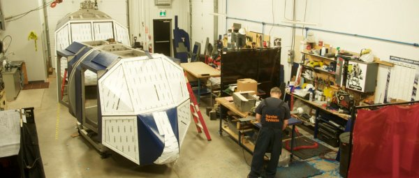SSL starts fitting outer skins to METS® for Royal Navy HUETS destined for RNAS YEOVILTON