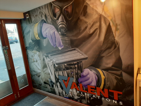Reception Wall Graphic Provided and Fitted.