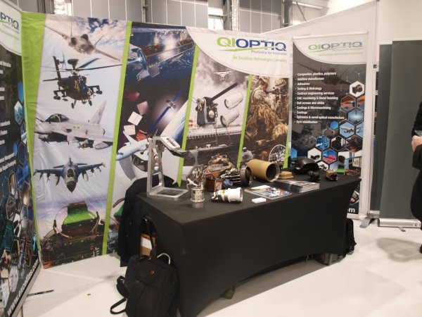 Two Fabric Stands & Two Pop Ups produced for Qioptiq with short notice.